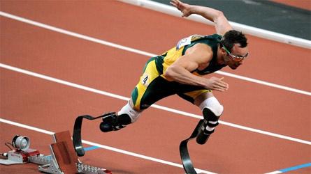 Pistorius durante una competizione
