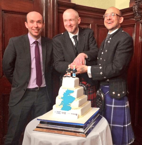 il primo matrimonio egualitario in scozia