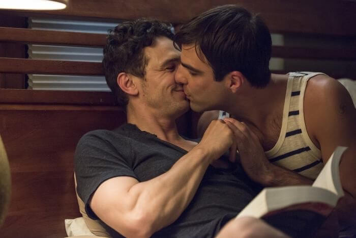 """Threesom"" per James Franco, Zachary Quinto e Charlie Carver. FOTO"