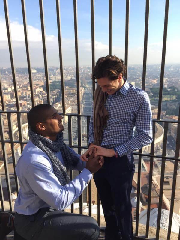 Michael Sam: proposta di matrimonio sulla cupola di San Pietro
