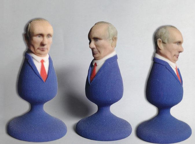 Vladimir Putin e Donald Trump in versione butt plug
