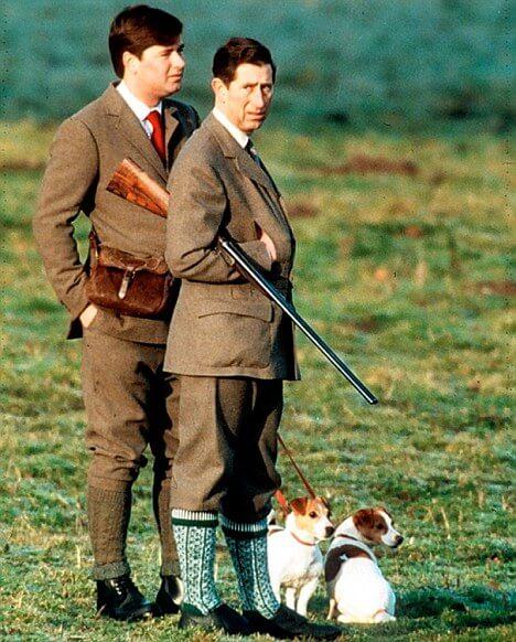 Il Principe Carlo e Michael Fawcett a caccia