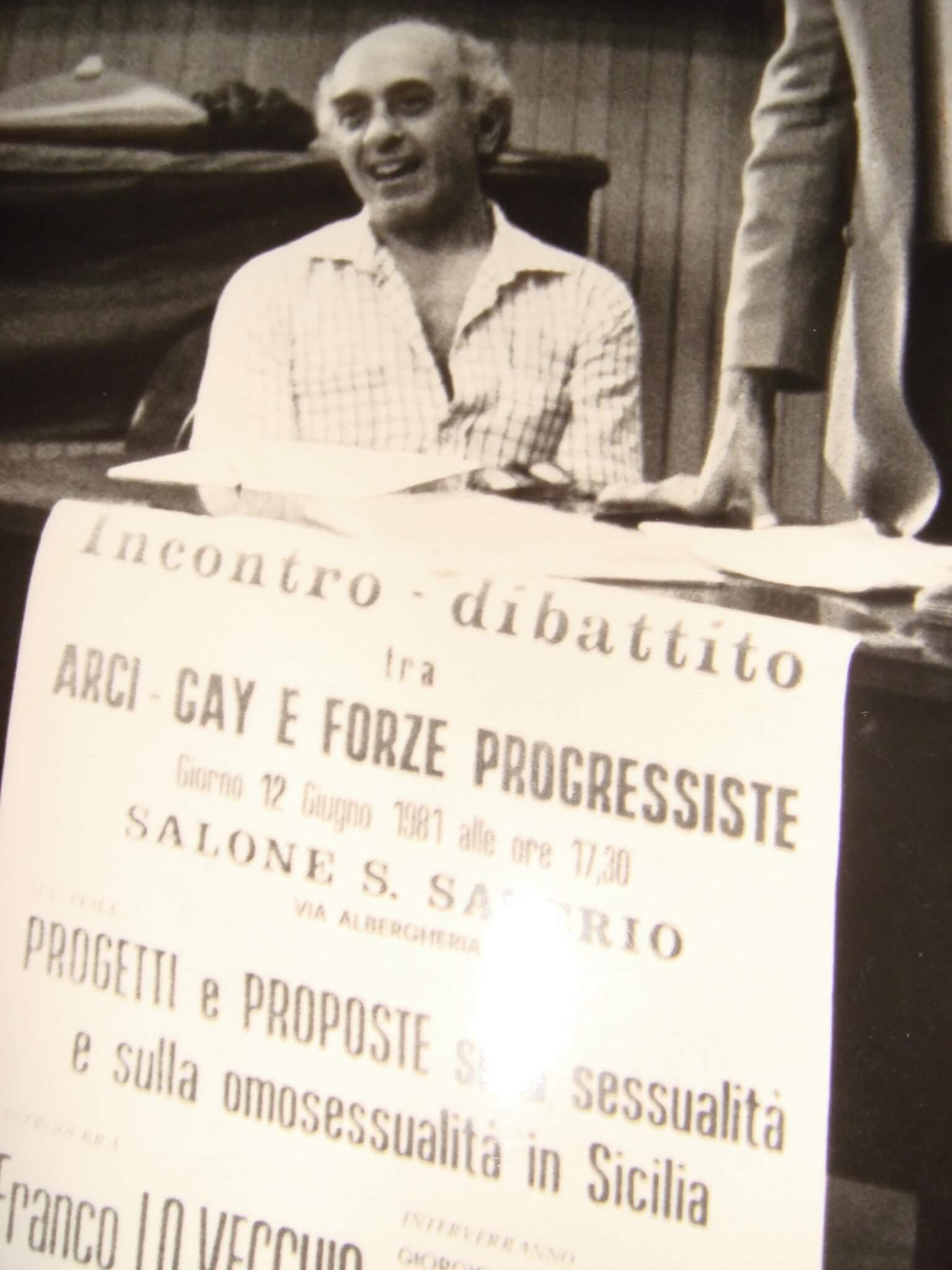 """Marco Bisceglia, il prete """"spretato"""" fondatore di Arci Gay."""