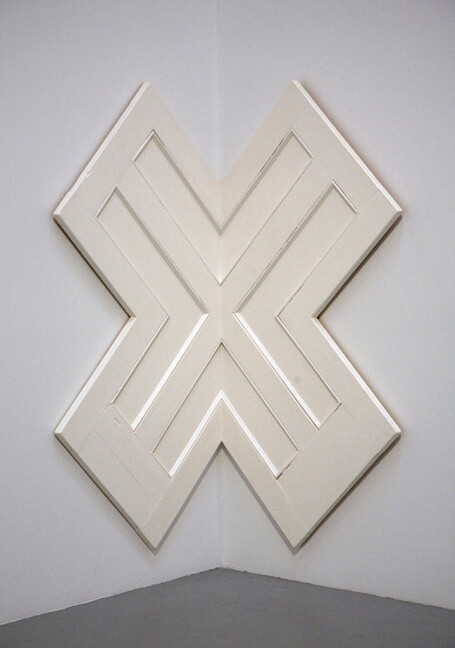 Robert Gober, Untitled, 1998, wood, steel and enamel, 81 5/8 x 58 x 41 3/8 inches