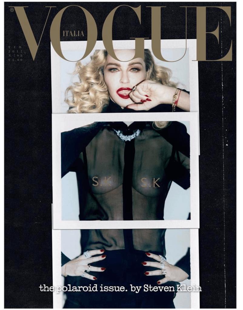 Madonna in copertina su Vogue Italia fotografata da Steven Klein