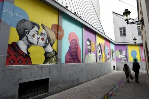 Street art gay