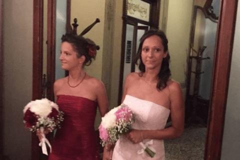 unione civile coppia lesbica benedetta dal prete