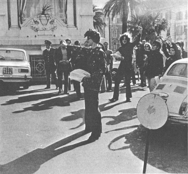 La manifestazione a Sanremo